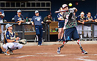 Sept. 29. 2013; Zachary &quot;Beef&quot; Briseno hits a home run. Announcer Bob Nagle joked &quot;We're going to run out of softballs.&quot;<br /> <br /> Photo by Matt Cashore/University of Notre Dame
