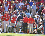 Ole Miss' Nickolas Brassell (2) makes a catch vs. Alabama at Vaught-Hemingway Stadium in Oxford, Miss. on Saturday, October 14, 2011. Alabama won 52-7.