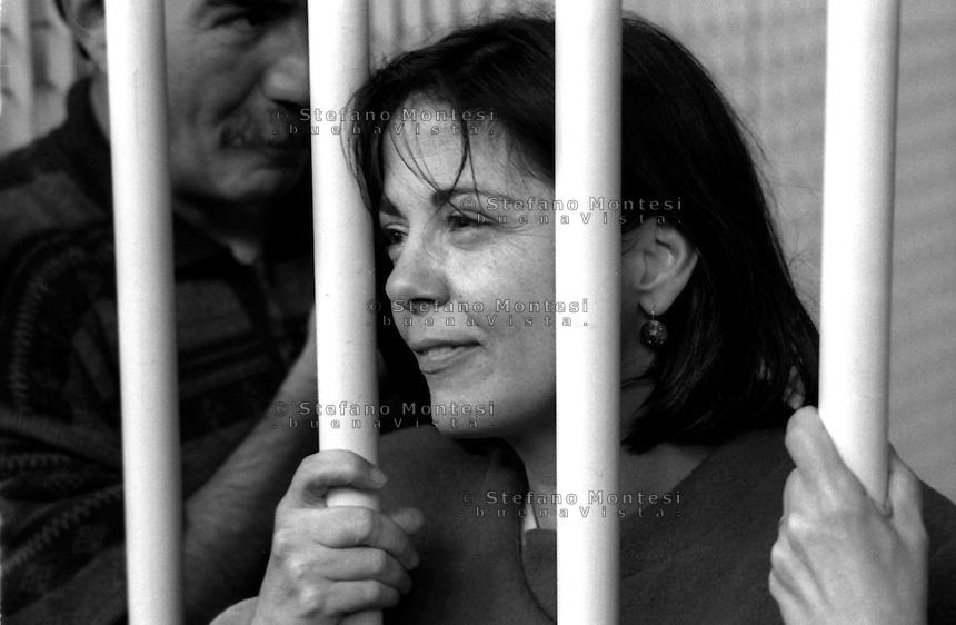 Roma 1992<br /> Aula bunker del Foro Italico<br /> Processo Moro-ter alle Brigate Rosse. Barbara Balzerani