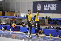 SPEED SKATING: SALT LAKE CITY: 18-11-2015, Utah Olympic Oval, ISU World Cup, training, Kjeld Nuis (NED), Sven Kramer (NED), ©foto Martin de Jong