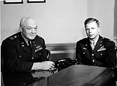 """Undated photo of United States Air Force legends Henry H. """"Hap"""" Arnold, left, and Richard Ira """"Dick"""" Bong, right..Credit: U.S. Air Force via CNP"""