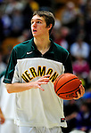12 December 2010: University of Vermont Catamount forward Ryan McKeaney, a Freshman from Marlton, NJ, warms up prior to game action against the Marist College Red Foxes at Patrick Gymnasium in Burlington, Vermont. The Catamounts (7-2) defeated the Red Foxes  75-67 notching their 7th win of the season, and their best start since the '63-'64 season. Mandatory Credit: Ed Wolfstein Photo