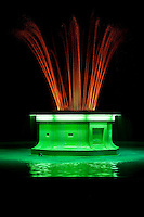 Napier, New Zealand.  Tom Parker Art Deco  Fountain Illuminated at Night.