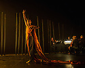 Choreographer, Shobana Jeyasingh, presents MATERIAL MEN, starring bharathanatyam dancer Sooraj Subramaniam and hip-hop dancer, Shailesh Bahoran, as part of a double bill with 'Strange Blooms', in the Queen Elizabeth Hall, Southbank Centre. Picture shows: Sooraj Subramaniam.