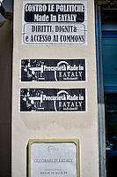 Roma  1 Maggio 2014<br /> Festa del Lavoro: Manifestazione dei movimenti ad Eataly contro lavoro precario e jobs act<br /> Rome May 1, 2014 <br /> Labor Day: Manifestation of radical movements at Eataly against precarious work and jobs act