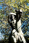 California: Sacramento. Pony Express Sculpture..Photo copyright Lee Foster, 510/549-2202, lee@fostertravel.com, www.fostertravel.com..Photo #: casacr104