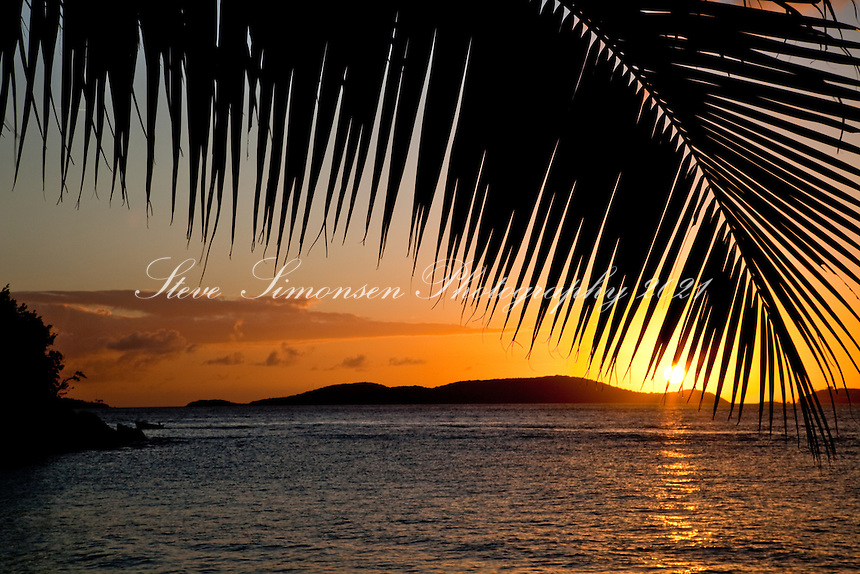 Sunset from Frank Bay looking towards St Thomas<br />