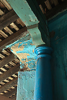 Pillar and roof detail. Hariharan home, Nagaipattinam. (this home has now been demolished).