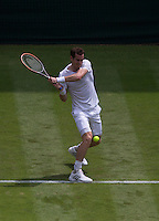 ANDY MURRAY (GBR)<br /> <br /> The Championships Wimbledon 2014 - The All England Lawn Tennis Club -  London - UK -  ATP - ITF - WTA-2014  - Grand Slam - Great Britain -  23rd June 2014. <br /> <br /> &copy; AMN IMAGES