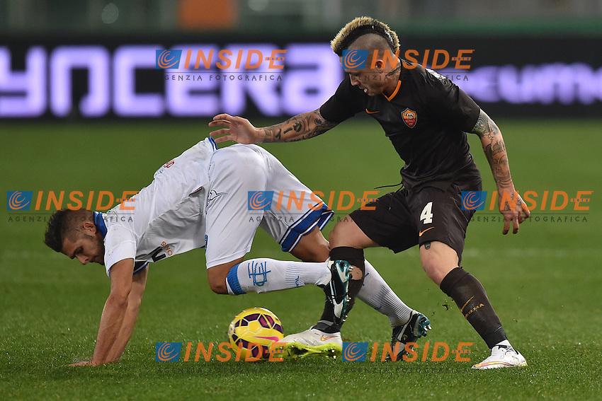 Vincent Laurini Empoli, Radja Nainggolan Roma <br /> Roma 20-01-2015 Stadio Olimpico, Football Calcio Coppa Italia - Italy Cup. Foto Andrea Staccioli / Insidefoto