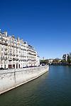 Quai aux Fleurs on Ile de la Cite, Paris, France