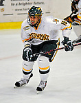 20 February 2009: University of Vermont Catamount forward Viktor Stalberg, a Junior from Gothenburg, Sweden, in action against the University of Massachusetts River Hawks during the first game of a weekend series at Gutterson Fieldhouse in Burlington, Vermont. The teams battled to a 3-3 tie. Mandatory Photo Credit: Ed Wolfstein Photo