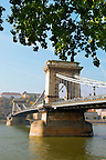 L&aacute;nchid . Chain Bridge over the Danube - Budapest - Hungary