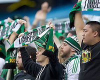 Portland Timbers fans that traveled to New England. In a Major League Soccer (MLS) match, the New England Revolution defeated Portland Timbers, 1-0, at Gillette Stadium on March 24, 2012