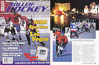 1996: January Roller Hockey Magazine tearsheet. NIHA tournament in Las Vegas action photos.