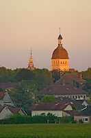 notre dame church tower beaune cote de beaune burgundy france