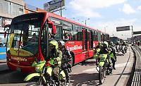Tercer dia de paro de transportadores en Bogota,22-10-2014