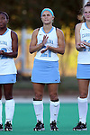 17 October 2014: North Carolina's Casey Di Nardo. The Duke University Blue Devils hosted the University of North Carolina Tar Heels at Jack Katz Stadium in Durham, North Carolina in a 2014 NCAA Division I Field Hockey match. UNC won the game 1-0.