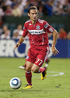 Bratislav Ristic dribbles the ball. The Chicago Fire defeated the San Jose Earthquakes 3-0 at Buck Shaw Stadium in Santa Clara, California on September 29th, 2010.