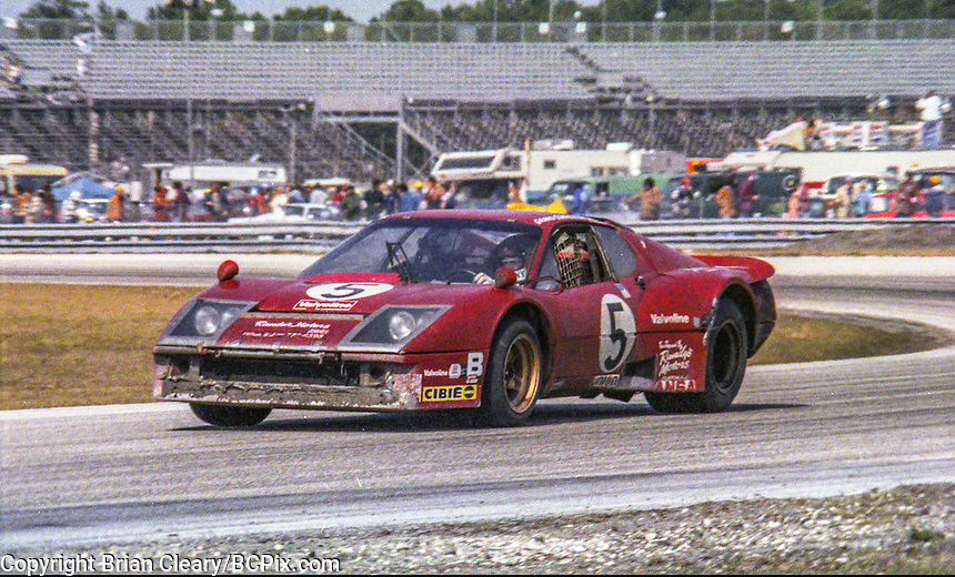 #5 Ferrari 365 GT4 of Gregg Young, Lucien Guitteny, and François Migault  22nd place finish, 1978 24 Hours of Daytona, Daytona International Speedway, Daytona Beach, FL, February 5, 1978.  (Photo by Brian Cleary/www.bcpix.com)