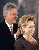 United States President Bill Clinton and first lady Hillary Rodham Clinton host an event in the East Room of the White House advocating expanded use of the internet to place adoptions in Washington, D.C. on November 24, 1998. <br /> Credit: Ron Sachs / CNP