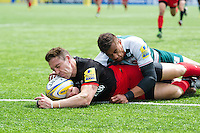 Chris Wyles of Saracens scores a second half try. Aviva Premiership semi final, between Saracens and Leicester Tigers on May 21, 2016 at Allianz Park in London, England. Photo by: Patrick Khachfe / JMP