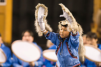 Nagsragmiut Inupiaq (Eskimo) dancers from the Village of Anaktuvuk Pass dance at the 2008 World Eskimo Indian Olympics held annually in Fairbanks, Alaska