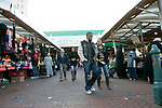 Queens Market, Upton Park East London. The market being is threatened with redevelopment.