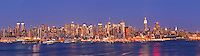 New York, New York CIty skyline from Weehawken, New Jersey
