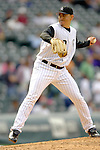 10 September 2006: Brian Fuentes, pitcher for the Colorado Rockies, on the mound against the Washington Nationals. The Rockies defeated the Nationals 13-9 at Coors Field in Denver, Colorado...Mandatory Photo Credit: Ed Wolfstein.