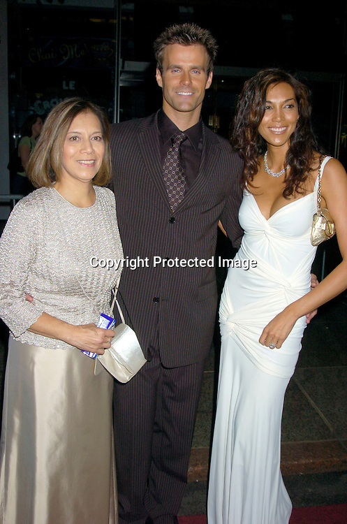 Cameron Mathison and wife Vanessa and mother in law ..arriving at the Daytime Emmy Awards on May 21, 2004 at  at Radio City Music Hall...Photo by Robin Platzer, Twin Images