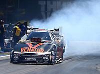 Jun 18, 2016; Bristol, TN, USA; NHRA funny car driver Matt Hagan during qualifying for the Thunder Valley Nationals at Bristol Dragway. Mandatory Credit: Mark J. Rebilas-USA TODAY Sports