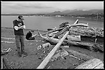 Two guys. And a dog waiting – for someone to throw the darn stick. #dailylife (Ediz Hook, Port Angeles WA)