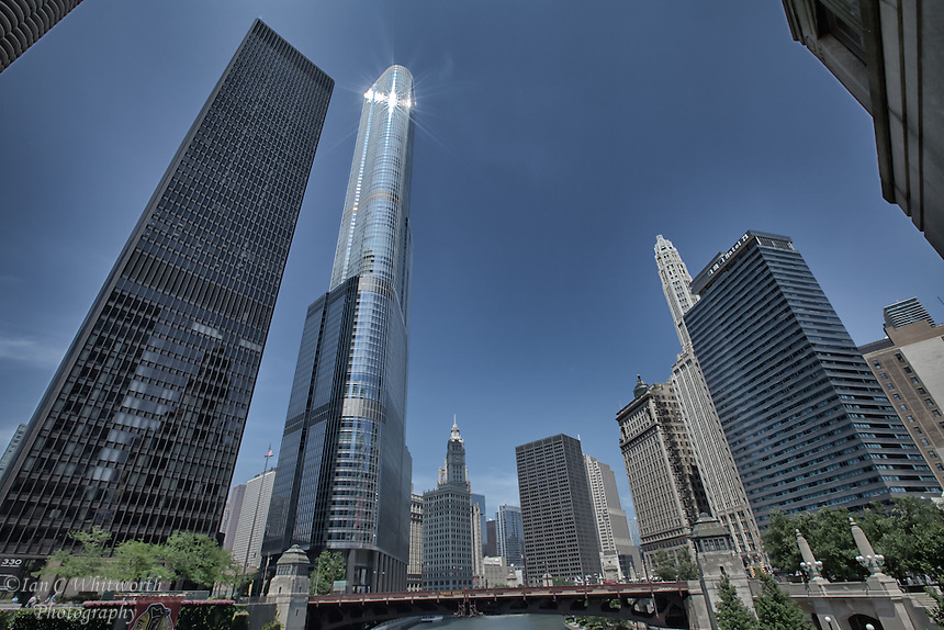 Chicago as seen from the Chicago River architectural cruise.