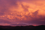 Billowing clouds at sunset in Big Sky Country