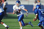 Oxford Middle School's Dee Fair (17) runs past Water Valley's Kirkland Walton (5) to score in 8th grade football action at Vaught-Hemingway Stadium in Oxford, Miss. on Saturday, August 27, 2011.