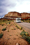 Utah: RV Travel, lifestyle, vacation, vertical scenic .Photo copyright Lee Foster, www.fostertravel.com..Photo #: rvlife103, 510/549-2202, lee@fostertravel.com.