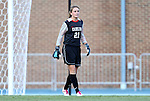 26 August 2012: UNC's Hannah Daly. The University of North Carolina Tar Heels defeated the University of Montreal Caribins 1-0 in overtime at Fetzer Field in Chapel Hill, North Carolina in an international women's collegiate friendly game.