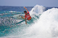 Mick Fanning (AUS) won the Quiksilver Pro Gold Coast 2005 defeating Chris Ward (USA) in the final held at Snapper Rocks, Coolangatta, Queensland, Australia. Photo: joliphotos.com