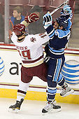 Chris Kreider (BC - 19), Jeff Dimmen (Maine - 6) - The Boston College Eagles defeated the visiting University of Maine Black Bears 4-0 on Friday, November 19, 2010, at Conte Forum in Chestnut Hill, Massachusetts.