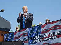 United States President Donald J. Trump makes remarks at the 36th Annual National Peace Officers Memorial Service at the US Capitol in Washington, DC, May 15, 2017.<br /> Credit: Chris Kleponis / Pool via CNP /MediaPunch