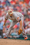 27 May 2013: Baltimore Orioles pitcher Darren O'Day on the mound against the Washington Nationals at Nationals Park in Washington, DC. The Orioles defeated the Nationals 6-2, taking the Memorial Day, first game of their interleague series. Mandatory Credit: Ed Wolfstein Photo *** RAW (NEF) Image File Available ***