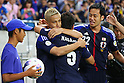 (L to R) Keisuke Honda, Yuto Nagatomo, Maya Yoshida (JPN), .June 3, 2012 - Football / Soccer : .FIFA World Cup Brazil 2014 Asian Qualifier Final Round, Group B .match between Japan 3-0 Oman .at Saitama Stadium 2002, Saitama, Japan. .(Photo by Daiju Kitamura/AFLO SPORT) [1045]