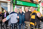 Three Tralee GAA clubs are in competition to have their Lotto tickets in Rock Street Post Office, From Left: Edmund Quirke, Kerins O'Rahillys, Terry Boyle, Saint Pats Blennerville, Martin Williams, Rock Street Post office and Jimmy yBrowne, Austin Stacks.