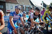 Bjorn Leukemans (BEL/Wanty-Groupe Gobert) &amp; Danny Van Poppel (NLD/Trek Factory Racing) at the start<br /> <br /> GP Impanis 2014