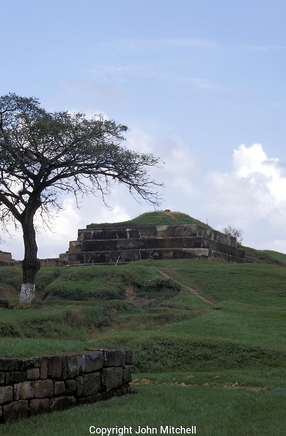 Pyramid at the Mayan ruins of San Andres in El Salvador, Central America