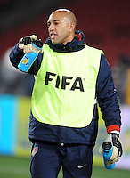 Tim Howard of USA during training at Ellis Park, Johannesburg on June 27, 2009 in preparation for the FIFA Confederations Cup Final against Brazil.