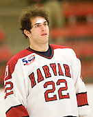 David Valek (Harvard - 22) - The visiting Quinnipiac University Bobcats defeated the Harvard University Crimson 3-1 on Wednesday, December 8, 2010, at Bright Hockey Center in Cambridge, Massachusetts.