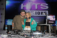 FORT LAUDERDALE , FL - AUGUST 09: Bebe Rexha and DJ Mike Cruz during Hits 97.3 Sessions at Revolution on August 9, 2016 in Fort Lauderdale, Florida. CrediMPI04 / MediaPunch