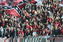 Urawa Reds fans,.APRIL 21, 2012 - Football / Soccer :.The artistic shot. 2012 J.League Division 1 match between Omiya Ardija 2-0 Urawa Red Diamonds at NACK5 Stadium Omiya in Saitama, Japan. (Photo by Hiroyuki Sato/AFLO)